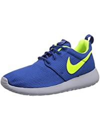 NIKE Roshe Run, Unisex Children's Running Shoes, Blue (Gym Blue/Volt/Wolf Grey), 5 UK