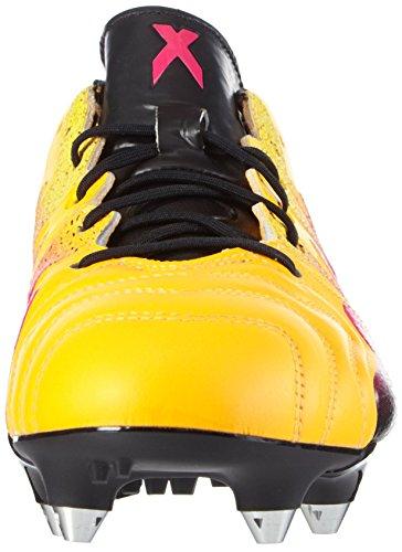 adidas X 15.1 Sg Leather, Scarpe da Calcio Uomo Arancione (Solar Gold/Shock Pink/Core Black)