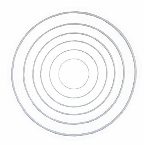 Drahtringe Set 10-20-25-30-35-40 cm je 1 Stück verschiedene Größen