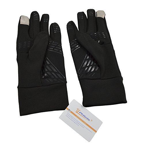 Rutschfest Touchscreen Handschuhe – UPhitnis Sport Fahrradhandschuhe für Herren, Damen – Outdoor Radsport Winddicht Winterhandschuhe mit Schwarz, Rot, Rosa - 4