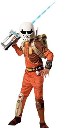 Leonardo Deluxe Kostüm Kinder - erdbeerloft - Jungen Karnevalskomplettkostüm Star Wars Ezra Deluxe, 140, Braun