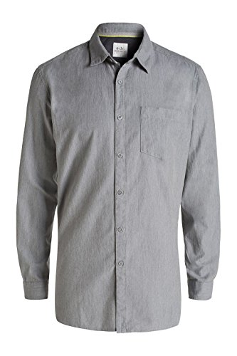 edc by Esprit 026cc2f006 - Longer Back - Chemise - Homme Gris (GREY 030)