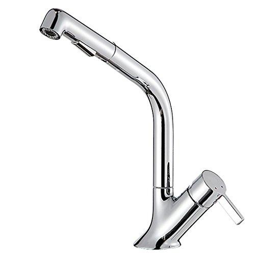 Grifo Pull-Type Faucet Cobre Caliente Fría Solo Hoyo