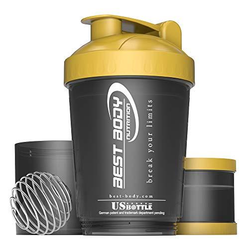Best Body Nutrition Eiweiß Shaker USBottle schwarz/gold, 600 ml