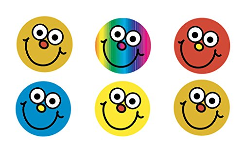 Sticker Solutions redondo Mini cara sonriente pegatinas de recompensa (Pack de 234)