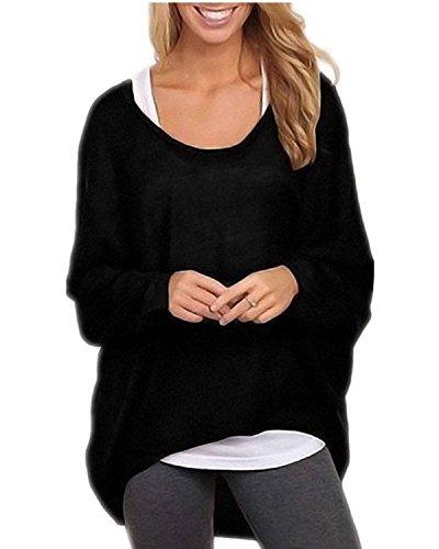 Minetom Mujer Otoño Primavera Suéter Loose Pullover Jerseys Manga Larga Camiseta Tapas...