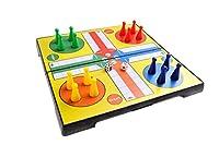 Magnetisches Brettspiel (Reise-Größe): Ludo - magnetische Spielsteine, Spielbrett zusammenklappbar, 20cm x 20cm x 2cm, Mod. SC2424 (DE)