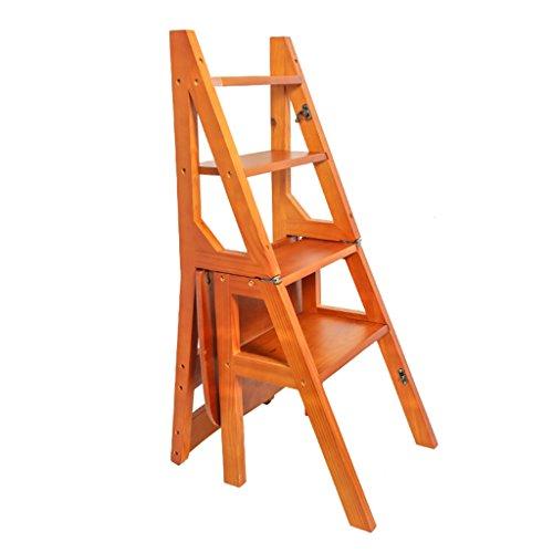 Schritt Stuhl Schritte Leiter Hocker  In Holz Klappbar Portable Leiter klassischer Stuhl Leiter  minimalistisch Stabil hohe Stühle Blumenständer Schreibtischregale - Portable Shop Schreibtisch
