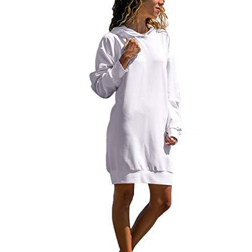 Vestidos de Fiesta Mujer Niña, Sólido Casual Vendaje Sólido Vestidos Invierno Mujer Manga Larga Talla Grande para Bodas, Vestidos de Fiesta Cortos, Vestidos Playa Mujer