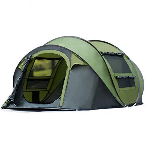 Qisan Tenda Pop-up da Campeggio Automatica Tende da Campeggio con Apertura Rapida Impermeabile Tenda da 4 Persone con Borsa da Trasporto Facile da Montare