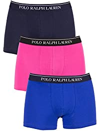 Polo Ralph Lauren Homme 3 Pack de coton stretch Logo Trunks, Bleu, Small
