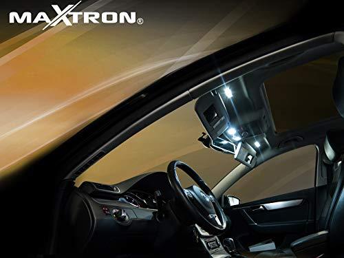 MaXtron Licht Innenraumbeleuchtung 6000K Kalt Weiß Beleuchtung Innenlicht SET für Auto Golf 4 Variant Innenraumset