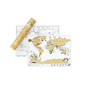 carte du monde gratter edition voyage mappemonde gratter cuisine maison. Black Bedroom Furniture Sets. Home Design Ideas
