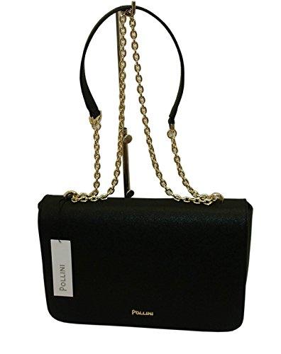 Borsa POLLINI SC4524 woman handbag saffiano pu shoulder bag NERO