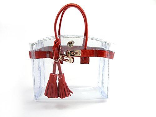 """Mini Cabas Diamant """" Mon Autre Sac ® """" rouge"""