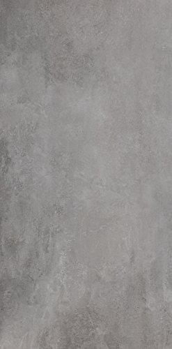 Die rektifizierten Bodenfliesen Titan grau matt im Großformat 60x120cm aus Feinsteinzeug eignen sich als Bodenfliesen und Wandfliesen und zaubern in jeden Raum ein modernes Ambiente zum Wohlfühlen (1 Muster)