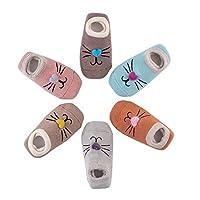 Estwell 6 Pairs Baby Infant Boys Girls Anti Slip Socks Winter Warm Cute Animal Cotton Socks