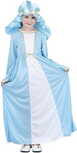 Fancy Me Mädchen Jungfrau Maria Geburt Weihnachten Schule Play festlich Spaß Kostüm Kleid Outfit 4-12yrs Jahre - 7-9 Years