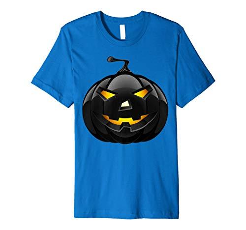 Scary Schwarz Kürbis T-Shirt Retro Halloween Kostüm -