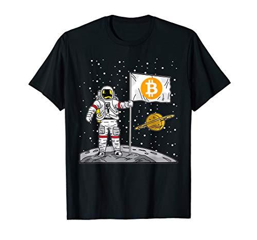Bitcoin T-Shirt | Astronaut To The Moon Blockchain