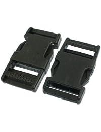 Packbag Correa Conectar Side Cierre Rápido Hebilla 2.5cm 2 piezas Negro