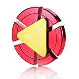 QSSM® Hand Spinner Toy Ultra Durable Metal High Speed Bearing Finger Gyro Relieve Stress Anxiety Boredom Desktoy Decompression Toy for Adult and Kids- Red
