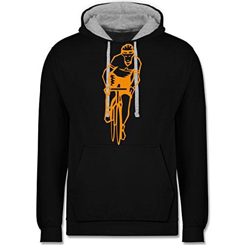 Radsport - Radsport - Kontrast Hoodie Schwarz/Grau Meliert