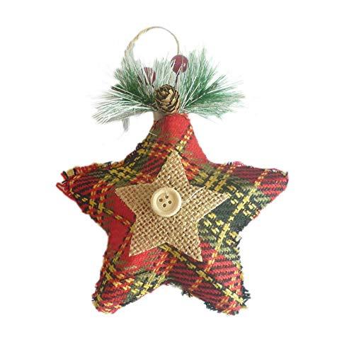 Decorazione natalizia per albero di natale, decorazione dell'albero di natale pentagramma ciondolo di natale paillette colorata pino pentagramma decorazione dell'albero di natale per natale