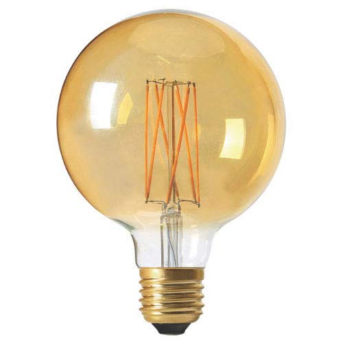 Ampoule led G125 filament E27 4 watt dimmable ambré