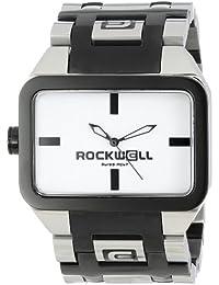 Rockwell DT104Duel Unisex de Tiempo Tiempo Negro de acero inoxidable con plata y blanco reloj