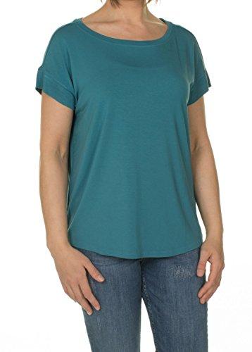 S.Oliver - Damen Jerseyshirt mit Ripp-Details summer teal
