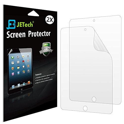 JETech 0332, Schutzfolie für iPad 2 3 4, PET Displayschutz, HD Klar, 2 Stück