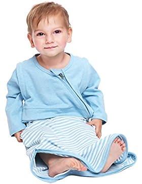 LETTAS Unisex Baby 100% Baumwolle Abnehmbare Lange Ärmel Schlafsack 0.5 TOG