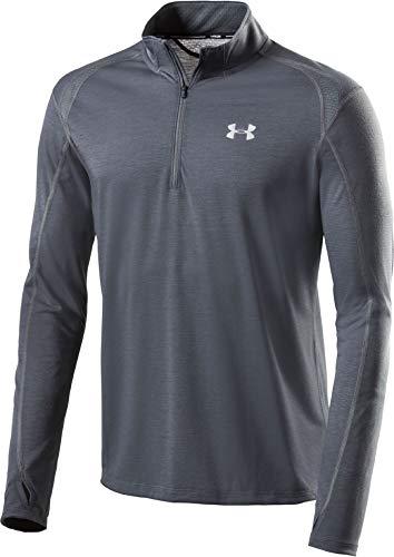Under Armour Herren atmungsaktives Sportshirt mit Half Zip, schnelltrocknendes Funktionsshirt UA Streaker 2.0, Schwarz, LG -