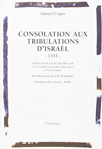 Consolation aux tribulations d'Israël 1553