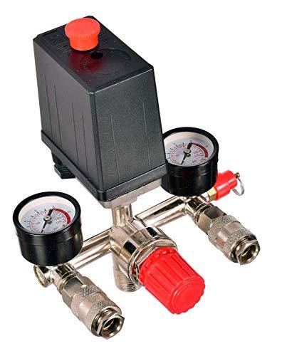 Compressore ad aria con giunto rapido, regolatore di pressione, interruttore compressore, compressore