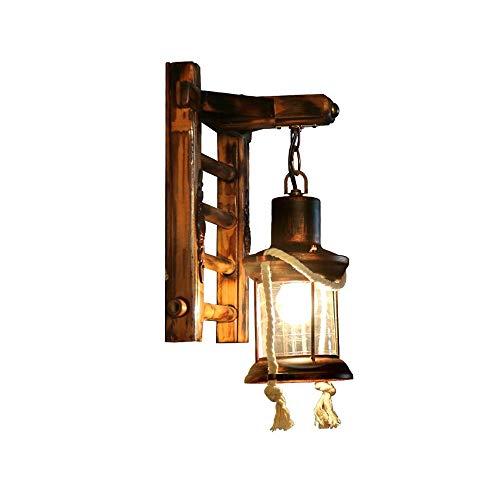 SLIANG Lampe Murale rétro, allée Murale de Couloir Lampe escalier Balcon Antique Lampe Murale Bambou Couloir Restaurant Loft décoration Lampe 24 * 33 cm