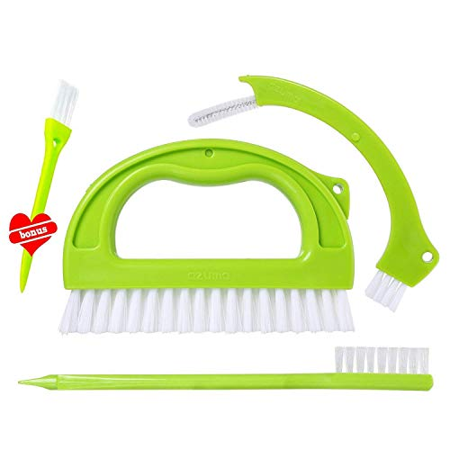 Alfie tile cleaning brush for tile joints, grout cleaning brush, cleaning brush for shower, floors, kitchen and other homes (3 in 1 and a small gift)
