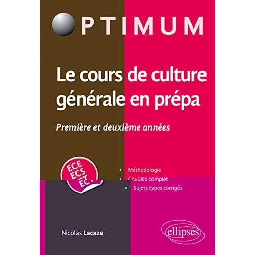 Le cours de culture générale en classes préparatoires économiques et commerciales (1re et 2e années)