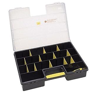 Stanley Werkzeug-Organizer / Aufbewahrungsbox Standard (45.7x32.7x7.9cm, mit 25 Fächern, bündiges Schließen, transparenter Deckel, mit Schiebeverschluss) 1-92-762
