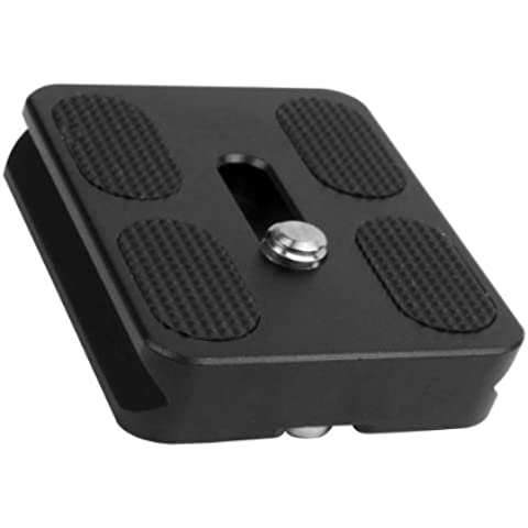 Bidyn ™-Piastra a sgancio rapido per Benro, compatibile con Arca Swiss testa B0 J0 2/1/J1-PU50-Testa a sfera per trasformare il monopiede DC377 Trfor iPod - B0 Testa A Sfera