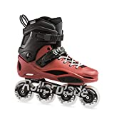 Rollerblade RB 80 PRO, Pattini Urban Freestyle Unisex Adulto, Nero/Rosso Scuro, 35