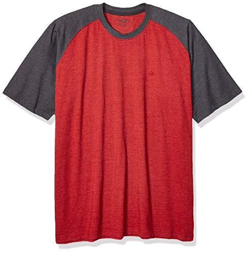 Wolverine Herren Brower Short Sleee Raglan Tee T-Shirt, Dark Red Heather, XX Large -