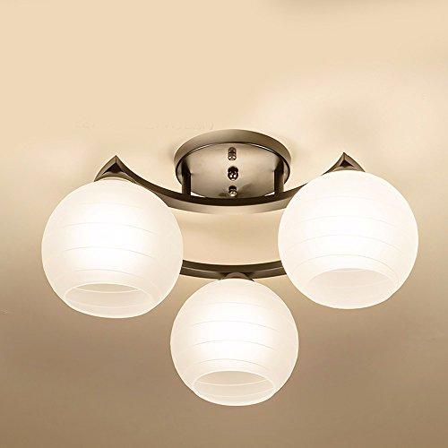 MeloveCc Deckenleuchte Die moderne Kinder Ledwith eine Einfache Kreative Amerikanische Bügeleisen Lampen 3 Kopf (49 * 27 Cm) Die dreifarbige) -