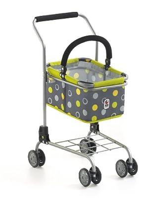 Bayer Chic 2000 761 42 - Carro para la compra con cesta, diseño de círculos, color gris y amarillo de Bayer CHIC 2000
