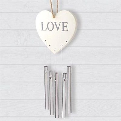 Wooden Plaque Love Message With Chimes Chic Hanging Home Decoration Gift House.