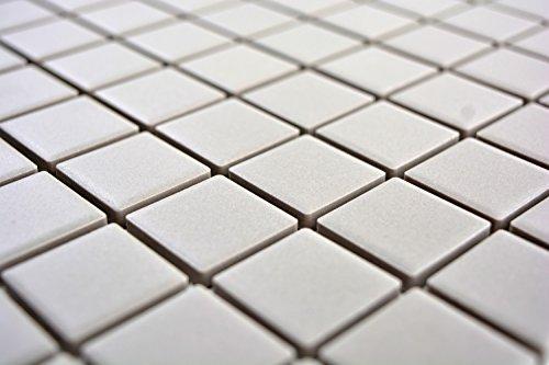 Mosaico in ceramica grigio chiaro unglasiert per piastrelle