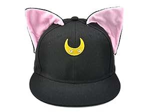 CoolChange Sailor Moon Basecap mit Katzenohren, Schwarz