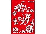 Transprente Schablone Blumenranken 20x31cm