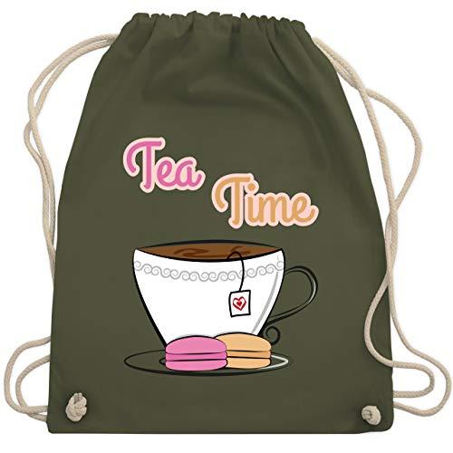 Typisch Frauen - Tea Time - Unisize - Olivgrün - WM110 - Turnbeutel & Gym Bag -